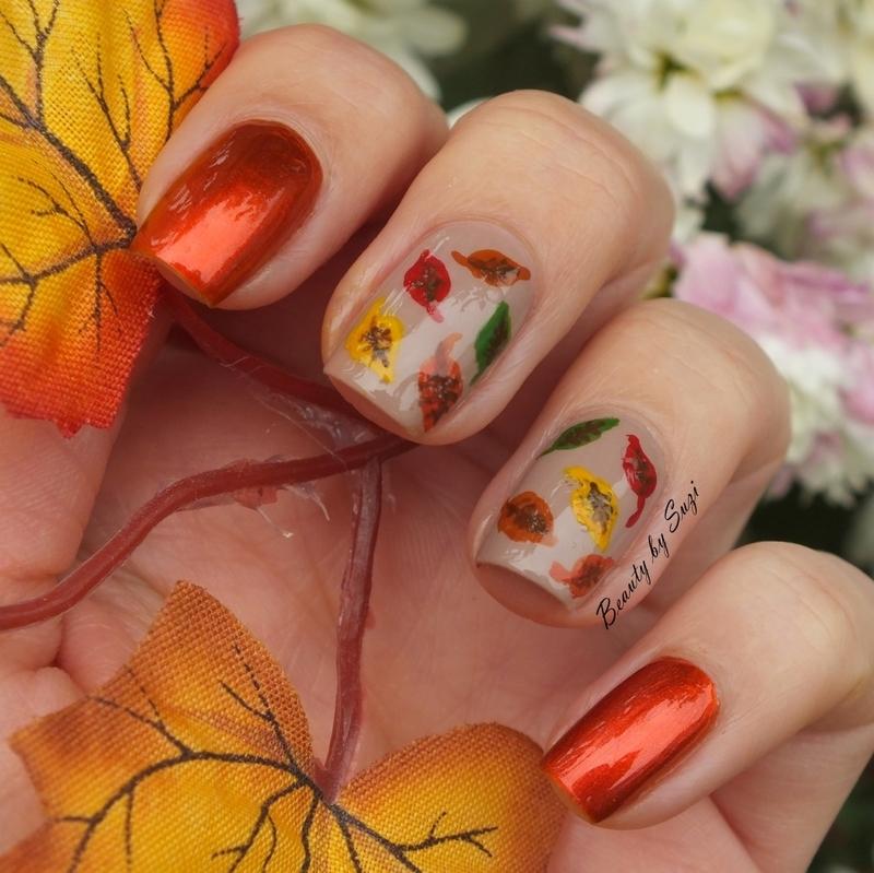 Fall Leaf nail art by Suzi - Beauty by Suzi