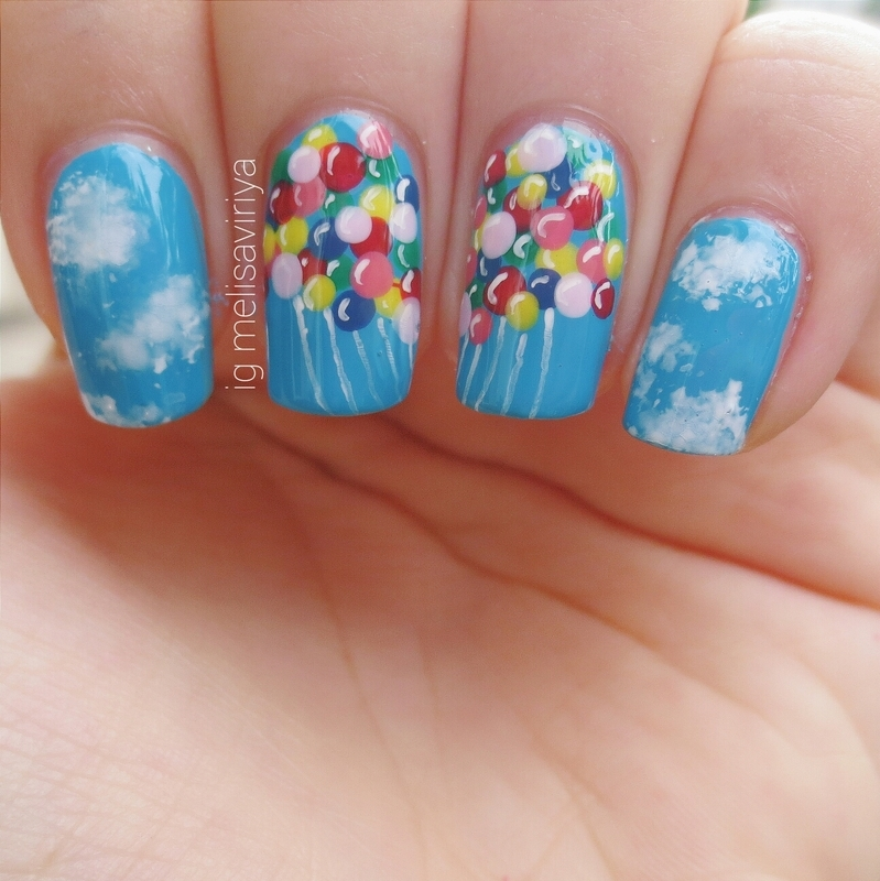 UP! nail art by melisa viriya