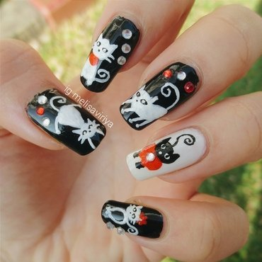 CATS nail art by melisa viriya