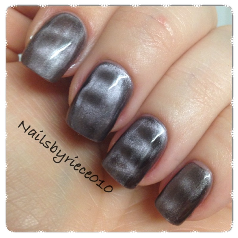 Make-Up Academy, Magnetic nails Leicester Square Swatch by Riece