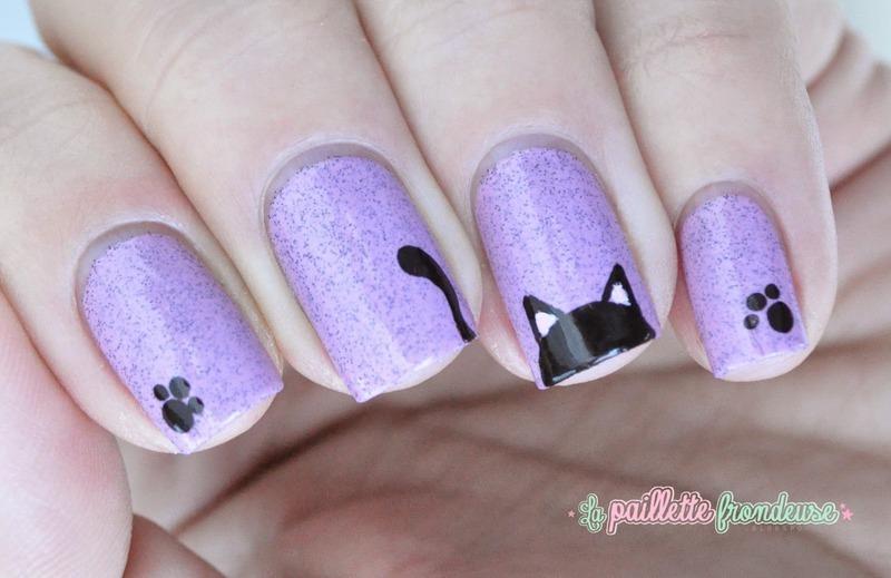black cat nail art by nathalie lapaillettefrondeuse