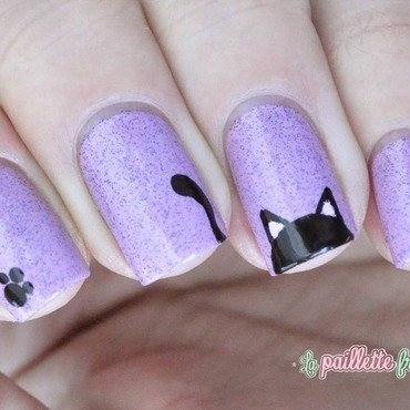 black cat nail art by nathalie lapaillettefrondeuse