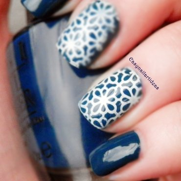BLUE nail art by Easynailartideas