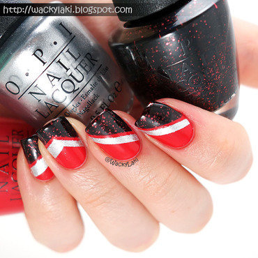 Racing Stripes nail art by Anutka