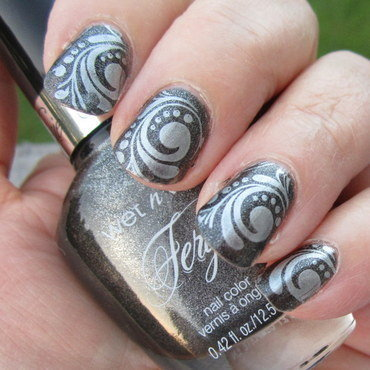 Swirly and Twirly nail art by HELEN KAY