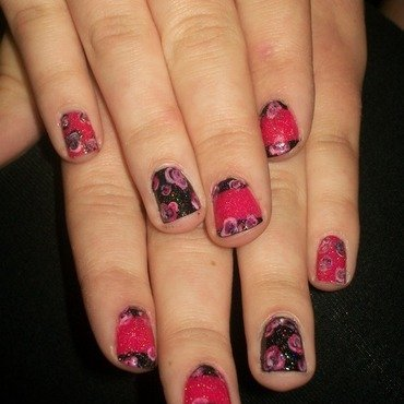 Roses nail art by Toni Nailed It