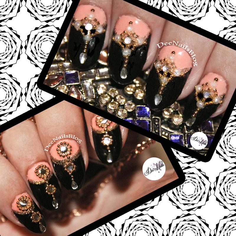 2 dangly holiday designs nail art by Diana Livesay