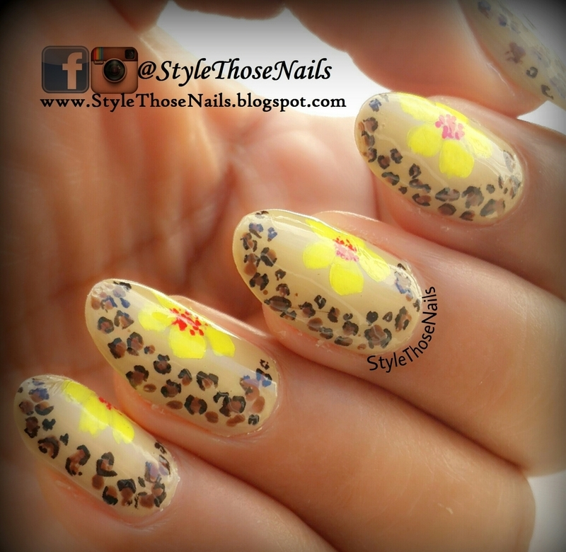 Leopard print and Flower Nails nail art by Anita Style Those Nails