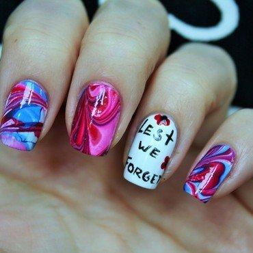 Veterans Day nail art by Jane