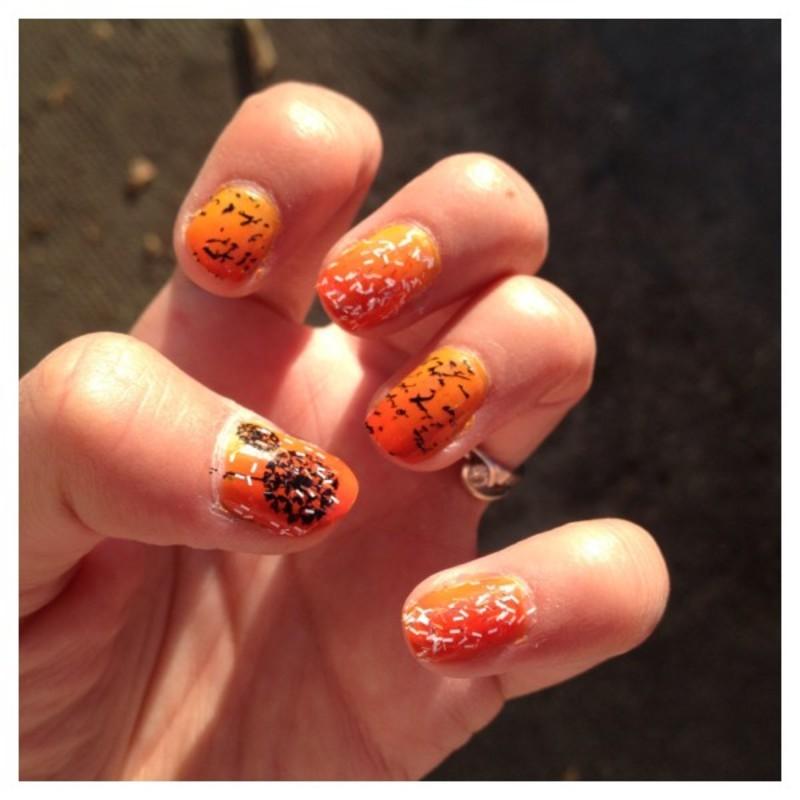UN SO HAPPY BIRTHDAY nail art by Dju Nails