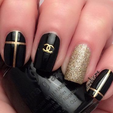 Chanel Nails  nail art by Melissa