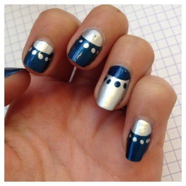 Moon manucure nail art by Dju Nails