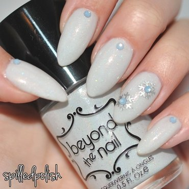 Winter Wonderland nail art by Maddy S