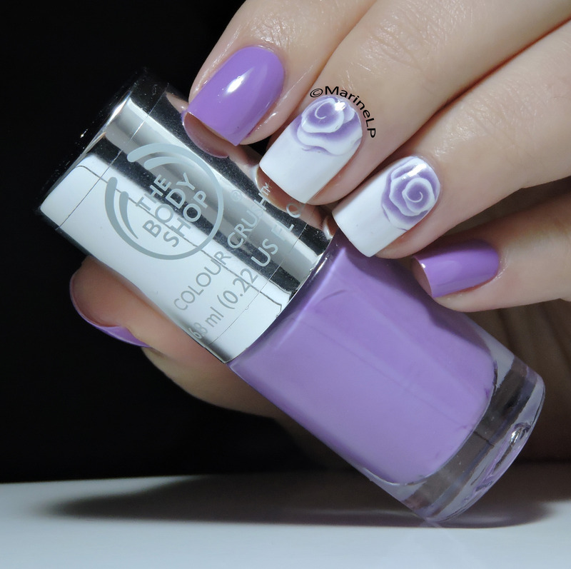 Roses are purple nail art by Marine Loves Polish