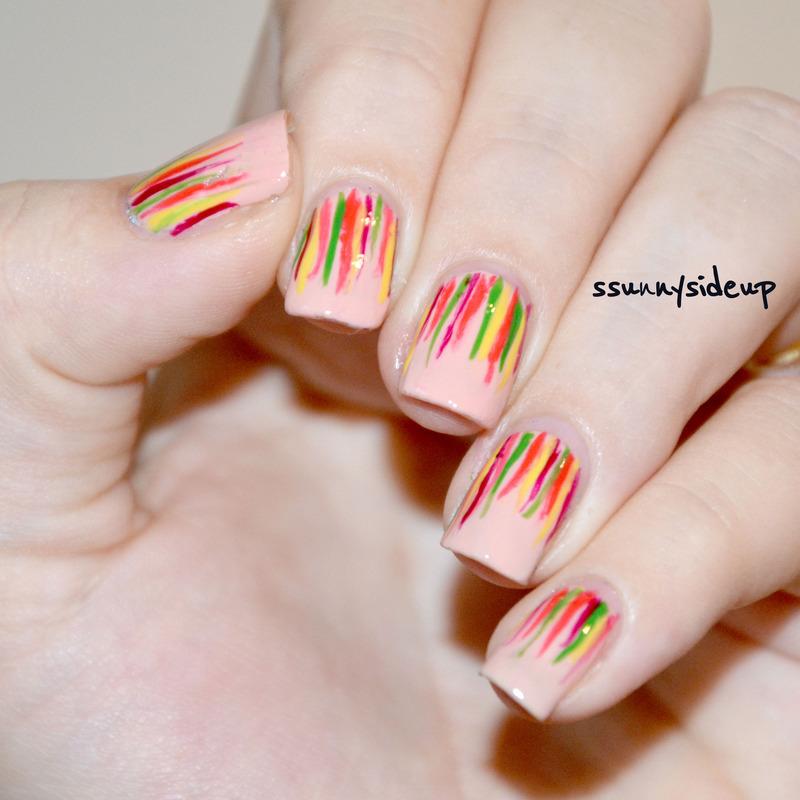 Waterfall mani nail art by ssunnysideup (Sabrina)