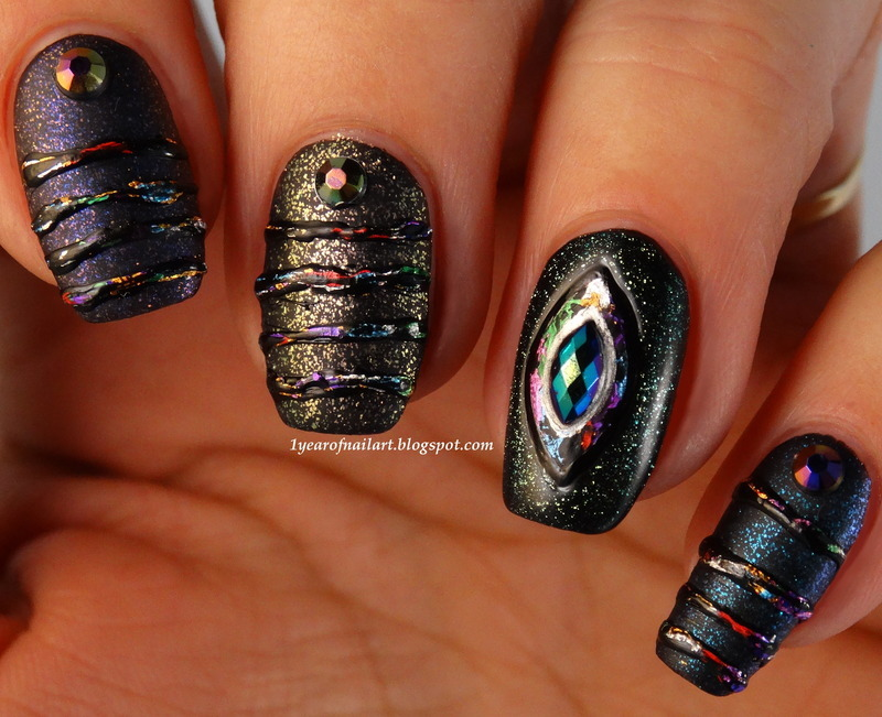 Metallic sugar spun nails nail art by Margriet Sijperda