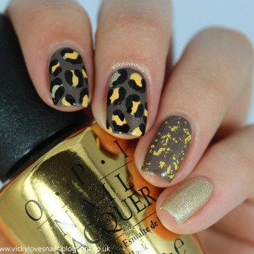 Leopard Print Skittlette nail art by Vicky Standage