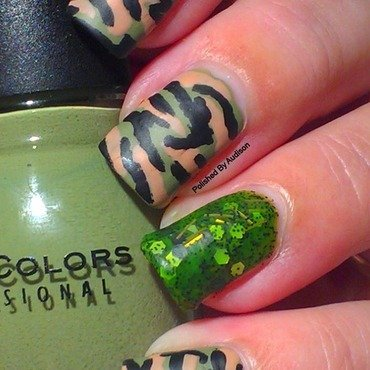 Veterans Day Camouflage Nail Art nail art by Ashley Hoopes
