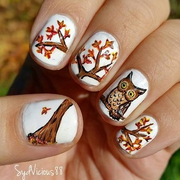 Fall  nail art by SydVicious