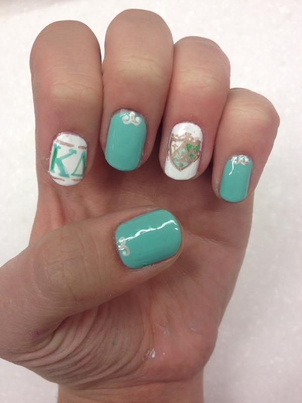 Kappa Delta nail art by Halle Butler