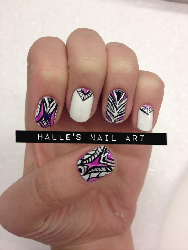 Purpetrate nail art by Halle Butler