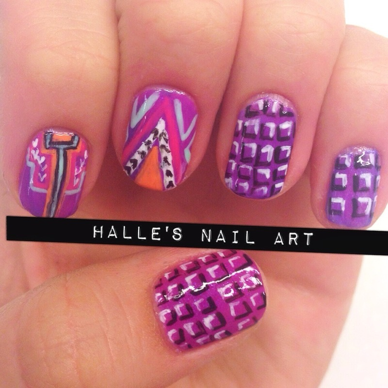 Pop nail art by Halle Butler