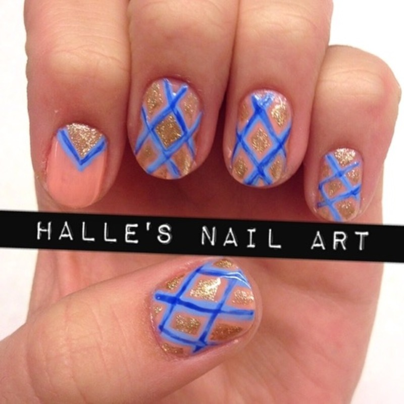 New on Nude nail art by Halle Butler