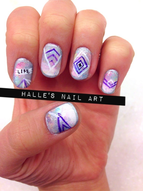 Shock nail art by Halle Butler