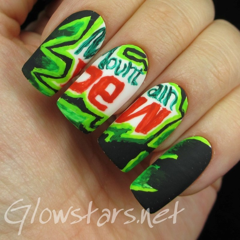 The Digit Al Dozen Does Thankfulness Mountain Dew Nail Art By Vic