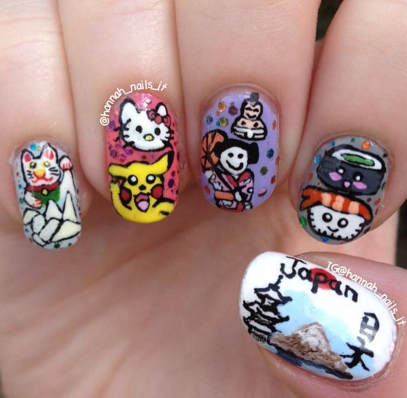 Turning Japanese nail art by Hannah
