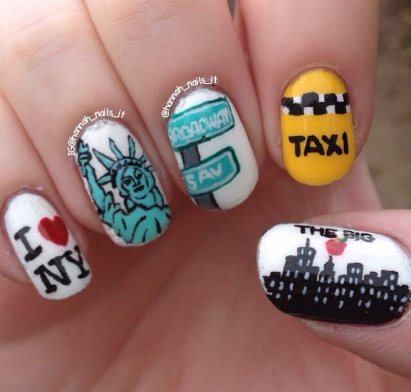 Empire State of Mind nail art by Hannah