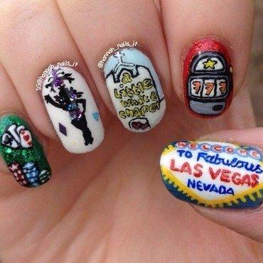 Luck be a lady nail art by Hannah