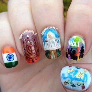 Passage to India nail art by Hannah