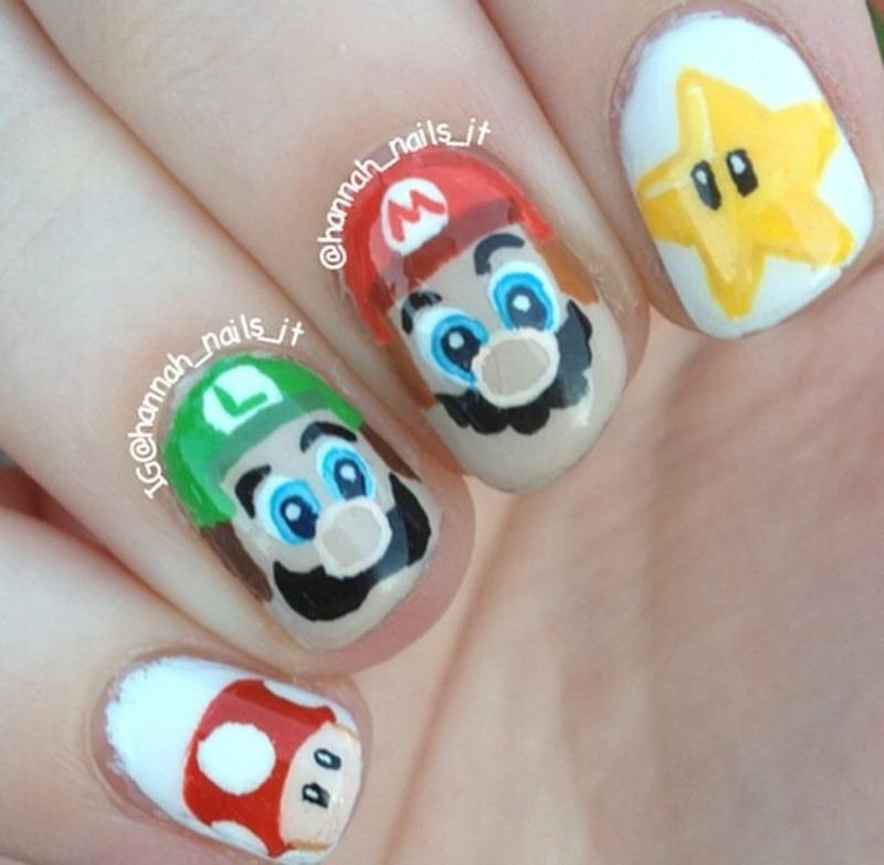 Super Mario Bros nail art by Hannah - Nailpolis: Museum of Nail Art