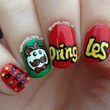 Pringles nail art by Hannah