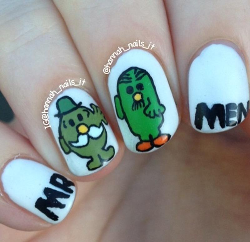 Mr Men Manicure nail art by Hannah
