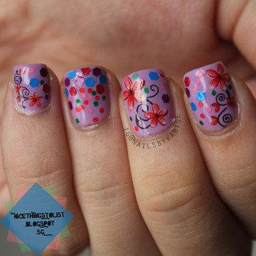 Bornprettystore water decal xf1287 glitter decoration 01 nail art thumb370f