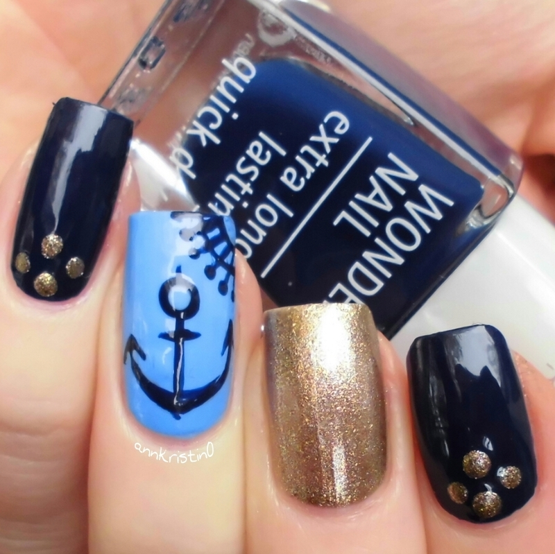 Nautical Nails Isadora nail art by Ann-Kristin