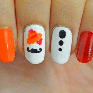 Movember Nails nail art by NailsContext