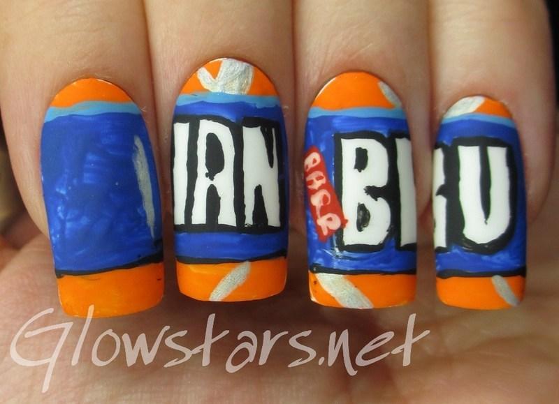 The Digit-al Dozen does thankfulness: Irn Bru nail art by Vic 'Glowstars' Pires