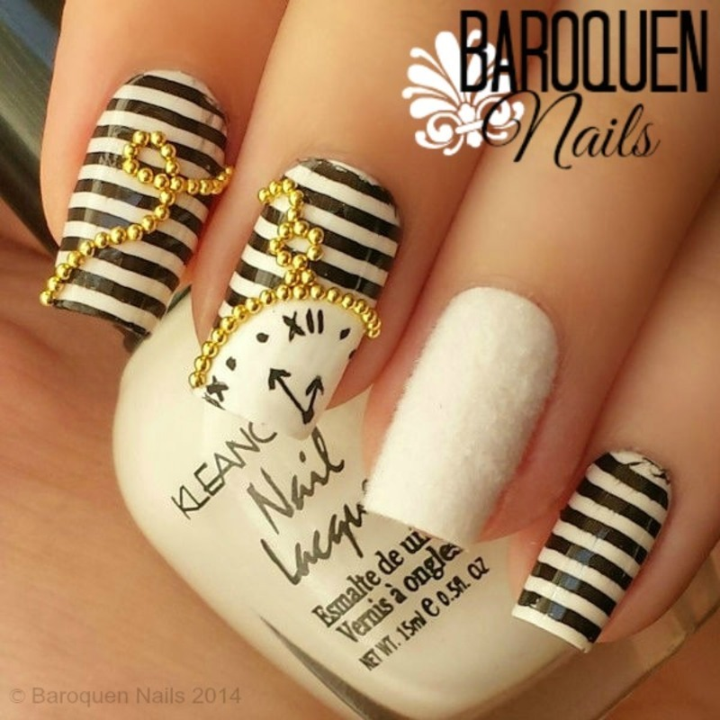 The White Rabbit nail art by BaroquenNails