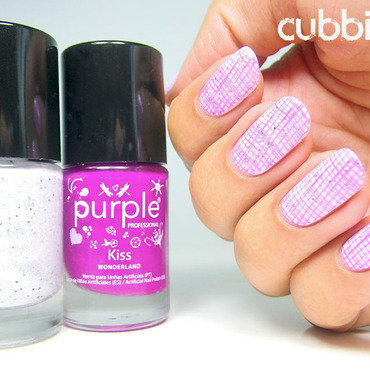 Stamping with Purple Professional nail art by Cubbiful