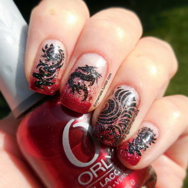 Dragons nail art by Donner