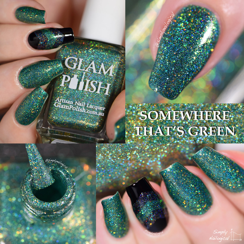 Glam Polish Somewhere that's green Swatch by simplynailogical