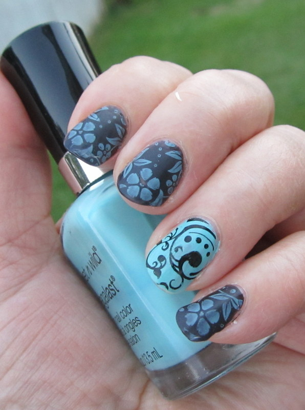 Licorice and Mints nail art by HELEN KAY