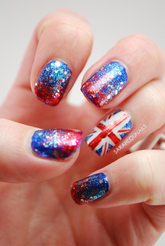 Union Jack Nails! nail art by Sarah S