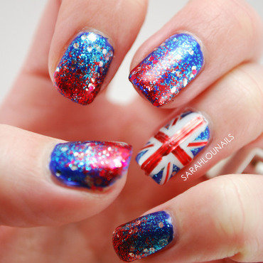 Union Jack Nails! nail art by Sarah S