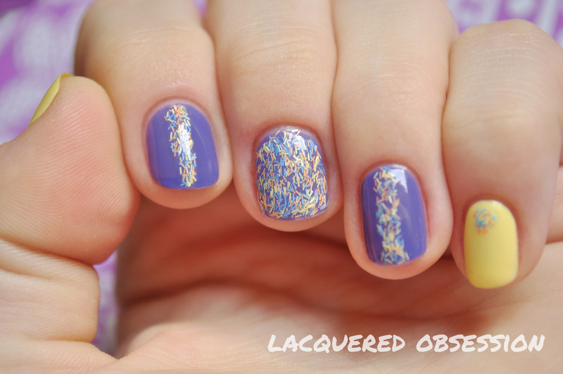 All Yarned Up! nail art by Lacquered Obsession