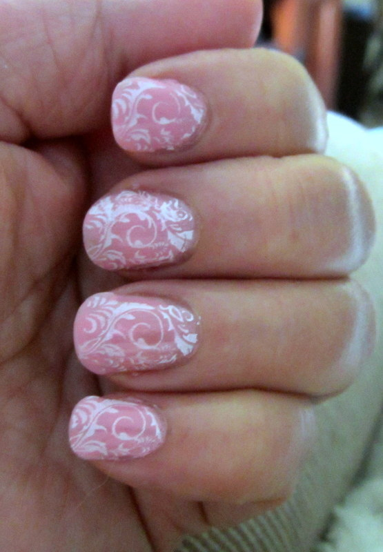 Pretty in Pink nail art by HELEN KAY