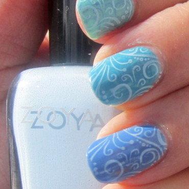 Doesn't make me Blue nail art by HELEN KAY